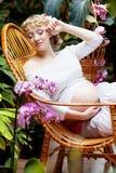 έγκυος γυναίκα κήπων Στοκ Εικόνα