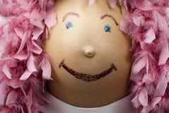 έγκυος γυναίκα κοιλιών Στοκ Φωτογραφία