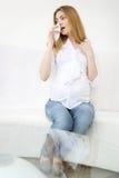 Έγκυος γυναίκα μάσκα προσώπου Στοκ Εικόνες