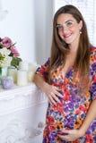 έγκυος γυναίκα πορτρέτο&u Στοκ Φωτογραφία