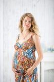 έγκυος γυναίκα πορτρέτο&u Στοκ Εικόνα