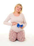 Έγκυος γυναίκα που απομονώνεται Στοκ φωτογραφία με δικαίωμα ελεύθερης χρήσης