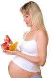 έγκυος γυναίκα προγευ&m Στοκ Εικόνες