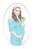 Έγκυος γυναίκα στον κύκλο Απεικόνιση αποθεμάτων