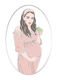 Έγκυος γυναίκα στον κύκλο Διανυσματική απεικόνιση