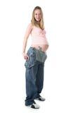 έγκυος γυναίκα τζιν Στοκ φωτογραφίες με δικαίωμα ελεύθερης χρήσης