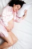 έγκυος γυναίκα ύπνου σπ&omicr Στοκ Εικόνες