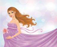 Έγκυος γυναίκα. Στοκ Εικόνες