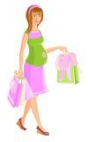 Έγκυος γυναίκα ελεύθερη απεικόνιση δικαιώματος