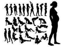 έγκυος γυναίκα Απεικόνιση αποθεμάτων