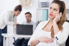 Έγκυος κλήση exec και επιχειρήσεων στοκ εικόνες