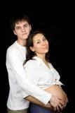 έγκυος σύζυγος συζύγων Στοκ Φωτογραφία