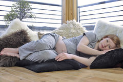 έγκυος χαλάρωση Στοκ Εικόνα