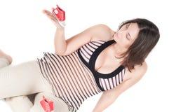 έγκυος όμορφη γυναίκα παπ Στοκ φωτογραφία με δικαίωμα ελεύθερης χρήσης