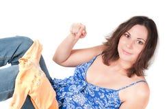 έγκυος όμορφη γυναίκα πο&r Στοκ φωτογραφία με δικαίωμα ελεύθερης χρήσης