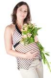 έγκυος όμορφη γυναίκα πο&r Στοκ Εικόνες