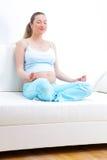 έγκυος όμορφη γυναίκα Στοκ Εικόνα