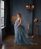 έγκυος όμορφη γυναίκα Στοκ εικόνα με δικαίωμα ελεύθερης χρήσης
