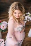 έγκυος όμορφη γυναίκα Στοκ εικόνες με δικαίωμα ελεύθερης χρήσης