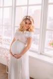 έγκυος όμορφη γυναίκα Στοκ Φωτογραφίες
