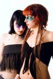 έγχρωμα κορίτσια Στοκ φωτογραφία με δικαίωμα ελεύθερης χρήσης