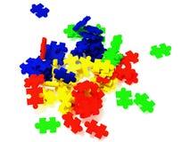 Έγχρωμη εικονογράφηση γρίφων Απεικόνιση αποθεμάτων