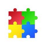 έγχρωμη εικονογράφηση περισσότερο διάνυσμα γρίφων Πράσινος, κόκκινος, μπλε, κίτρινος Στοκ Εικόνες