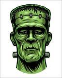 Έγχρωμη εικονογράφηση του κεφαλιού Frankenstein Στοκ φωτογραφίες με δικαίωμα ελεύθερης χρήσης