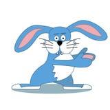 Έγχρωμη εικονογράφηση του χαριτωμένου κουνελιού Στοκ εικόνα με δικαίωμα ελεύθερης χρήσης