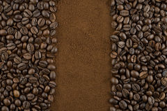 έδαφος καφέ φασολιών Στοκ φωτογραφίες με δικαίωμα ελεύθερης χρήσης