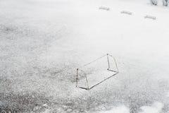 έδαφος ποδοσφαίρου Στοκ Εικόνες