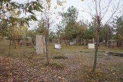 Έδαφος Paintball με τις οχυρώσεις εγκατεστημένες στοκ φωτογραφία με δικαίωμα ελεύθερης χρήσης