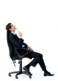 έδρα επιχειρηματιών στοχαστική στοκ εικόνα με δικαίωμα ελεύθερης χρήσης