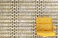 έδρα κίτρινη Στοκ Φωτογραφίες