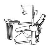 Έδρα οδοντιάτρου Στοκ φωτογραφία με δικαίωμα ελεύθερης χρήσης