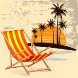 Έδρα στην παραλία διανυσματική απεικόνιση