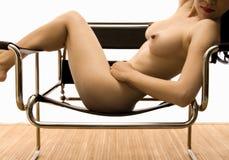 έδρα nude Στοκ φωτογραφία με δικαίωμα ελεύθερης χρήσης