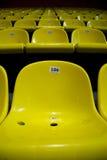 έδρες κίτρινες Στοκ φωτογραφία με δικαίωμα ελεύθερης χρήσης
