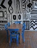 Έδρες και πίνακας Στοκ εικόνες με δικαίωμα ελεύθερης χρήσης