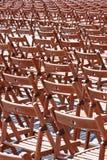έδρες ξύλινες Στοκ Εικόνες