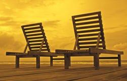 Έδρες παραλιών Στοκ Φωτογραφίες