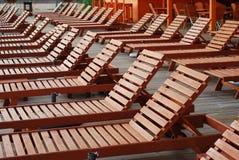 έδρες παραλιών Στοκ Εικόνες