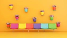 έδρες πολύχρωμες Στοκ φωτογραφία με δικαίωμα ελεύθερης χρήσης