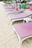 Έδρες στην παραλία. Στοκ Φωτογραφίες