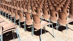 Έδρες στη σειρά Στοκ φωτογραφία με δικαίωμα ελεύθερης χρήσης