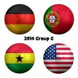 2014 έθνη Γ ομάδας ποδοσφαίρου Παγκόσμιου Κυπέλλου της FIFA απεικόνιση αποθεμάτων