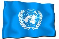 έθνη σημαιών που ενώνονται Στοκ Φωτογραφίες