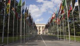έθνη της Γενεύης που ενών&omicron Στοκ φωτογραφία με δικαίωμα ελεύθερης χρήσης