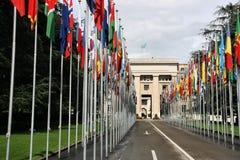 έθνη της Γενεύης που ενών&omicron Στοκ Φωτογραφία