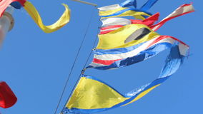 Έθνος υφάσματος αέρα ουρανού σημαιών απόθεμα βίντεο